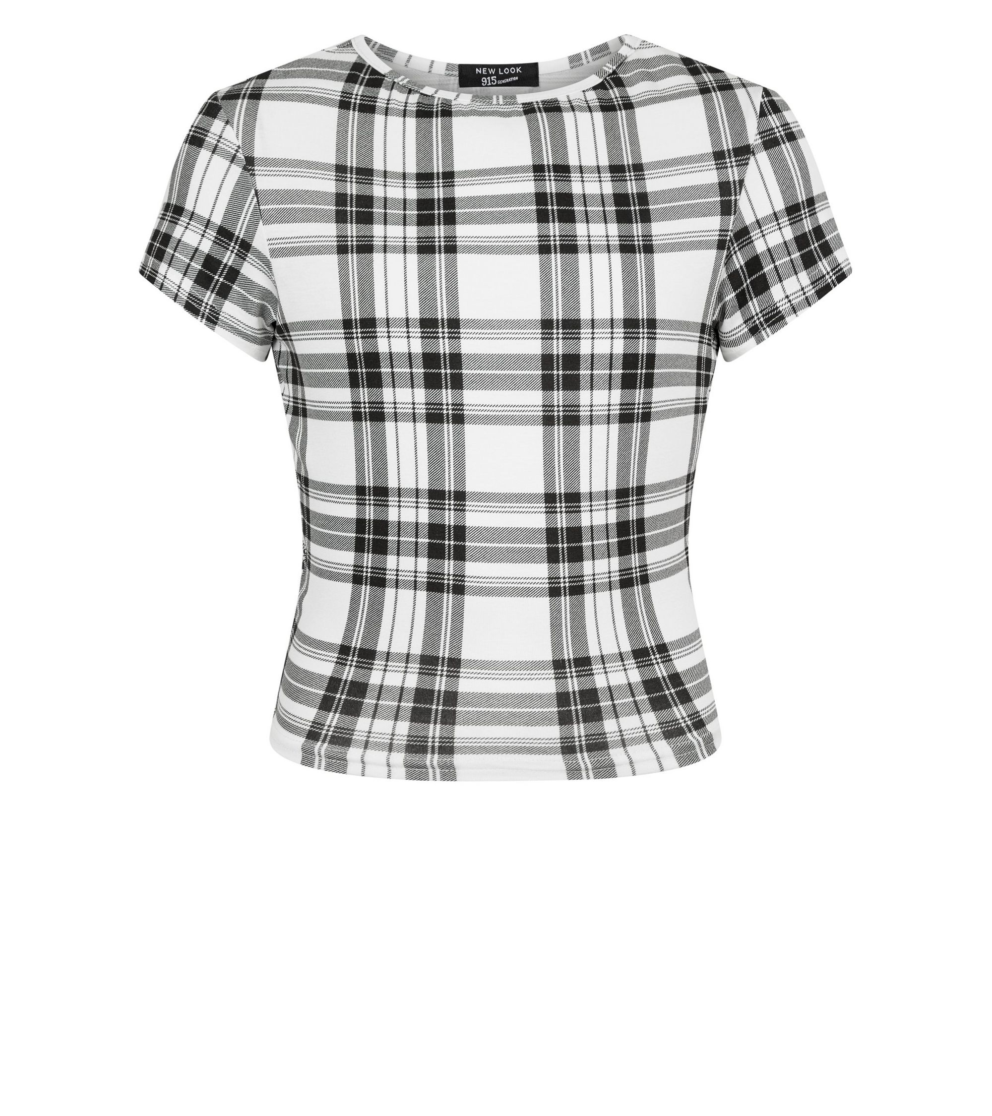 18d90fc847f252 New Look Girls White Check T-Shirt at £8.99 | love the brands