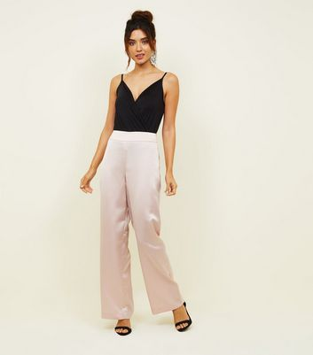 Pink Satin Party Trousers