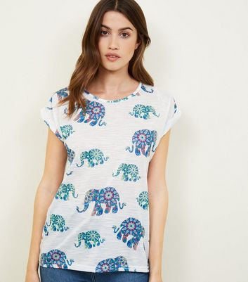 Prices Sale Online Apricot Blue Elephant Print Top New Look Free Shipping Authentic Outlet Manchester Great Sale Outlet Websites Quality Free Shipping Outlet HBo4hfvd7