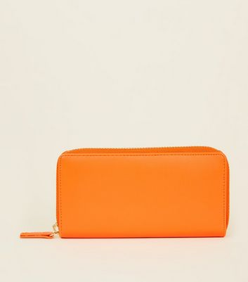 Bright Orange Zip-Around Purse