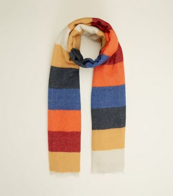 Rainbow Block Stripe Scarf