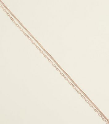 Silver Layered Contrast Chain Necklace