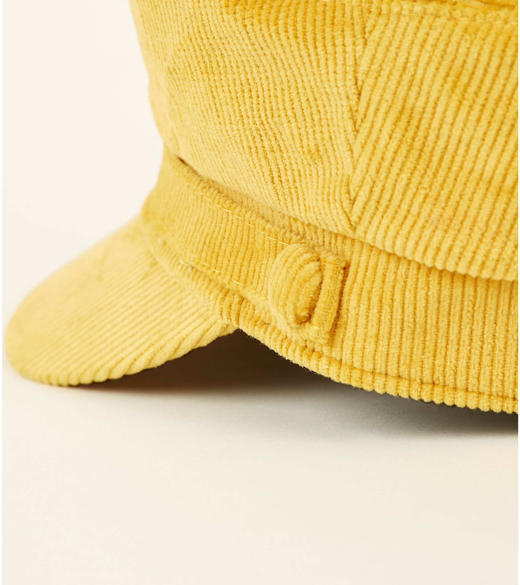 1b376f2e052 New Look Yellow Corduroy Military Baker Boy Cap at £9.99