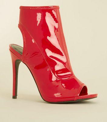 Black Shimmer Peep Toe Court Shoes Wide Fit