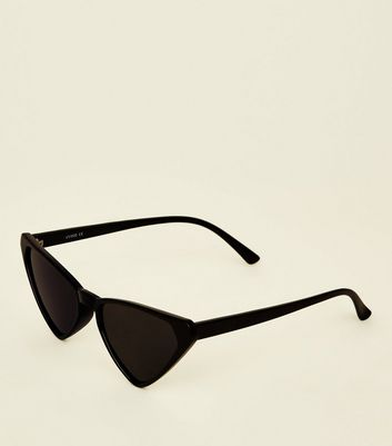Black Triangle Cat Eye Sunglasses