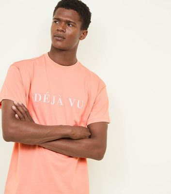 Coral Déja Vu Embroidered Oversized T-Shirt