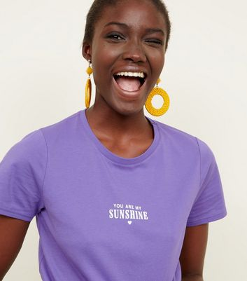 Purple 'You Are My Sunshine' Short Sleeve T-Shirt