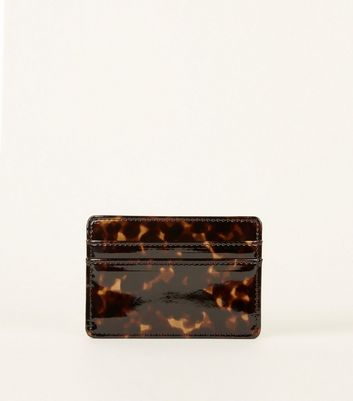 Black Faux Tortoiseshell Cardholder by New Look