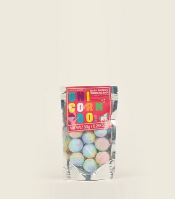 Multi Colour Unicorn Poo Bath Bomb Pack by New Look
