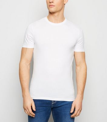 White Muscle Fit T-Shirt