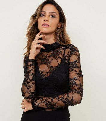 Carpe Diem Black Lace Bodysuit