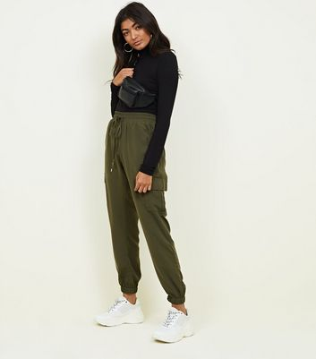Khaki Pocket Side Utility Joggers by New Look