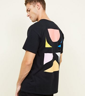 Black DK Geometric Printed Back T-Shirt