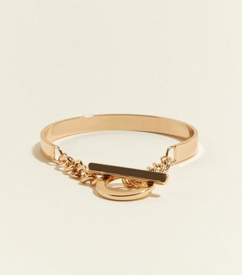 Gold Chain Bar Bracelet by New Look