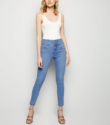 Pale Blue High Waist Skinny Yazmin Jeans