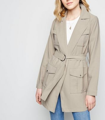 Stone D-Ring Belt Longline Shacket