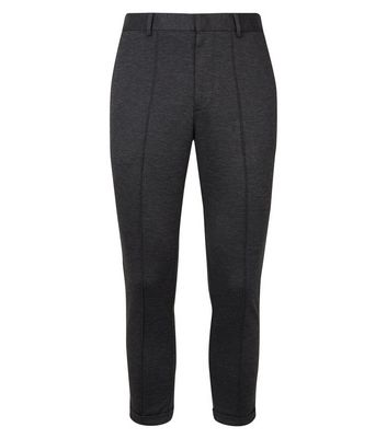 New Look - melierte, knöchellange stretch-hose aus pikee - 4