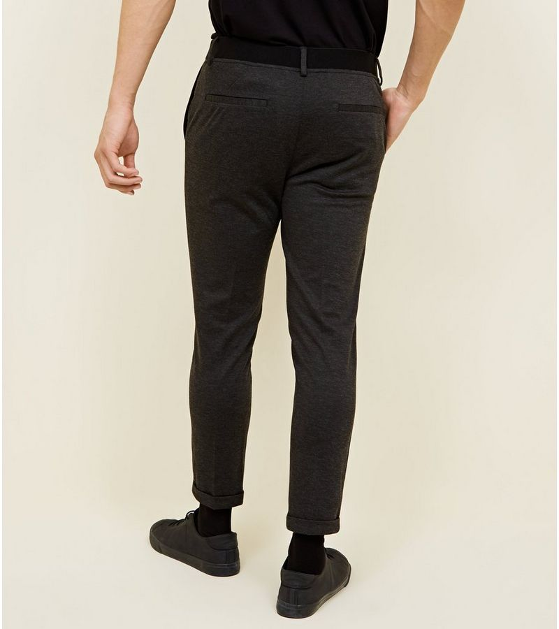 New Look - melierte, knöchellange stretch-hose aus pikee - 3