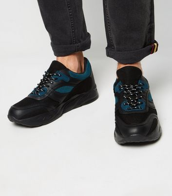 Black Panelled Lightweight Chunky Trainers