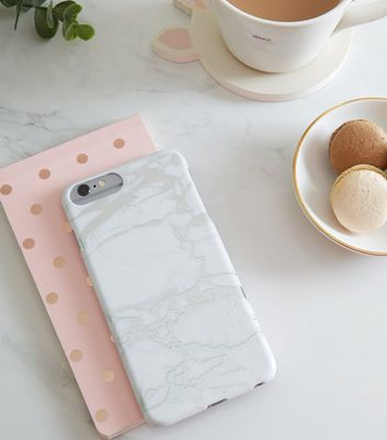 Silver Marble Effect iPhone 6/6s/7/8+ Case
