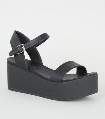 new look black platform sandals