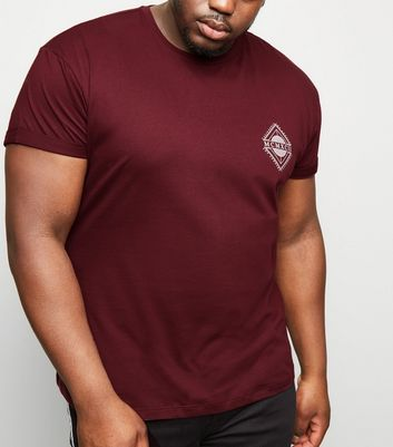 Plus Size Burgundy MCMCII Muscle Fit T-Shirt