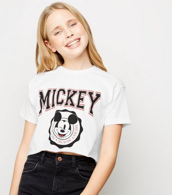 Girls White Mickey Mouse Disney T-Shirt