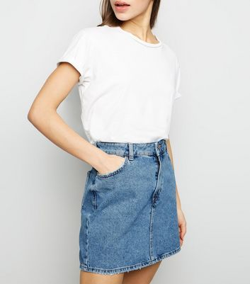 Petite Blue Denim Mini Skirt