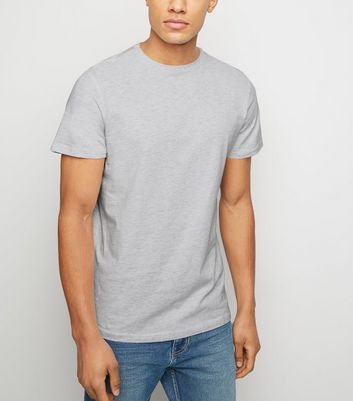 Pale Grey Crew Neck Cotton T-Shirt