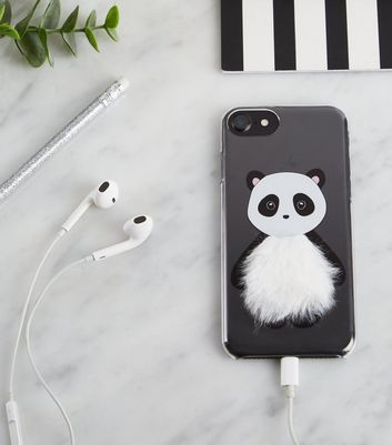 Black Panda Fluffy iPhone 6/6s/7/8 Case
