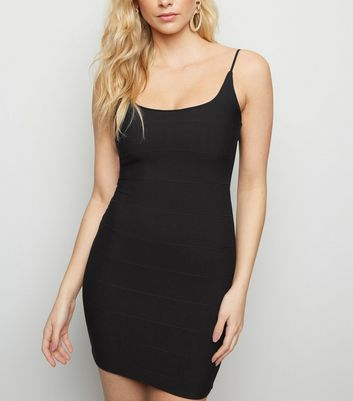 Black Strappy Bandage Bodycon Dress