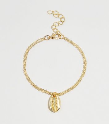 Gold Cast Shell Bracelet