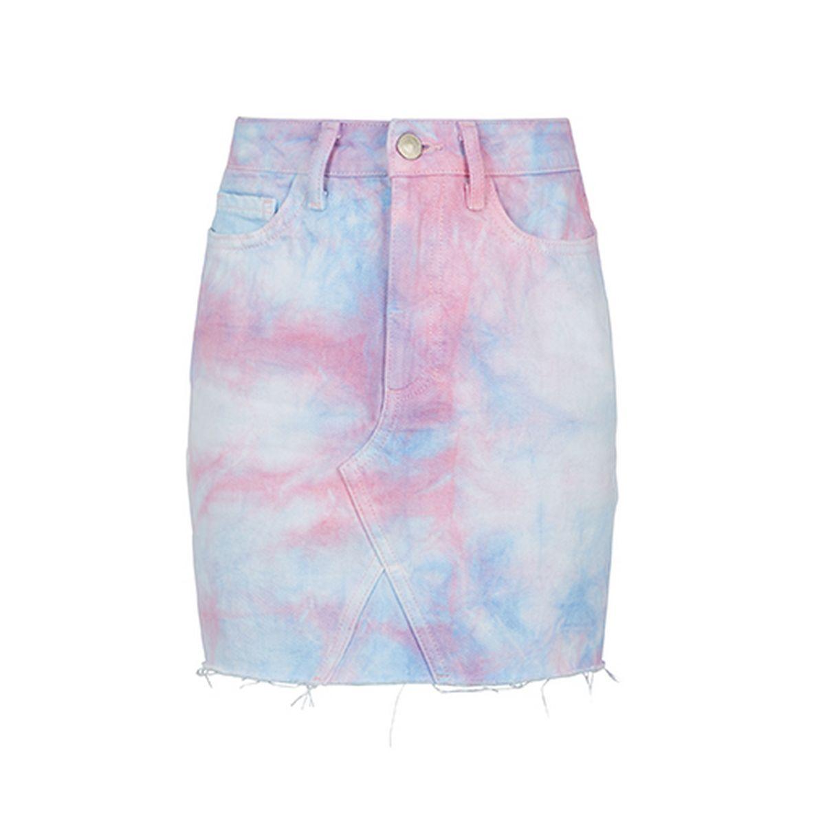 1dd1824e9ec1 Set Tie Dye Denim Skirt
