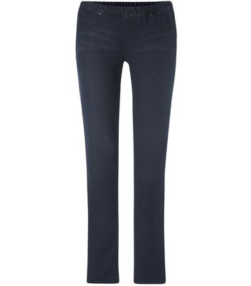 Tall 36in Blue Studded Jeggings New Look