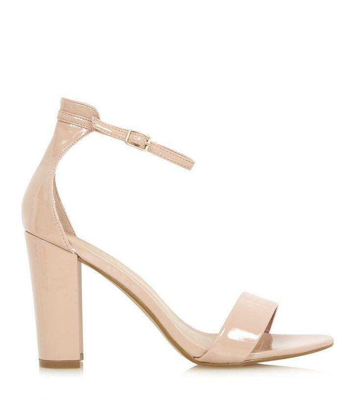 83190c0eb70 Stone Ankle Strap Open Toe Block Heel Sandals