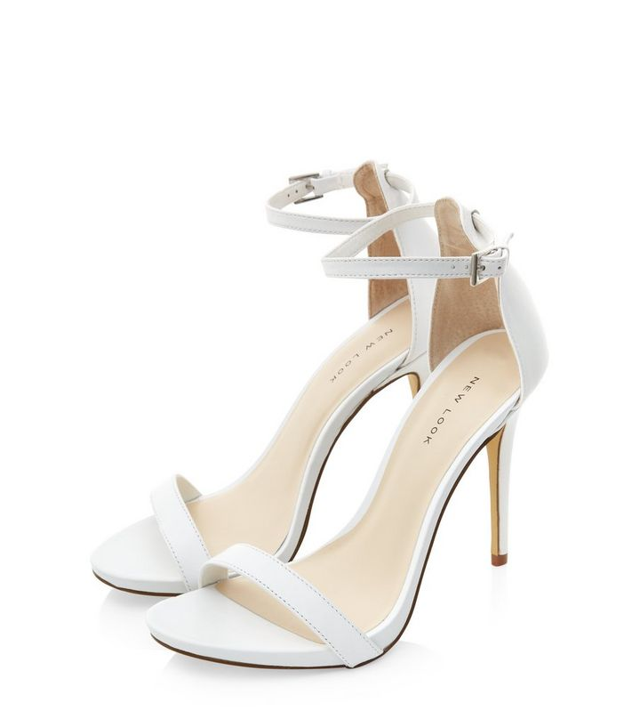 592884cbf3c White Leather Ankle Strap Heels Add to Saved Items Remove from Saved Items