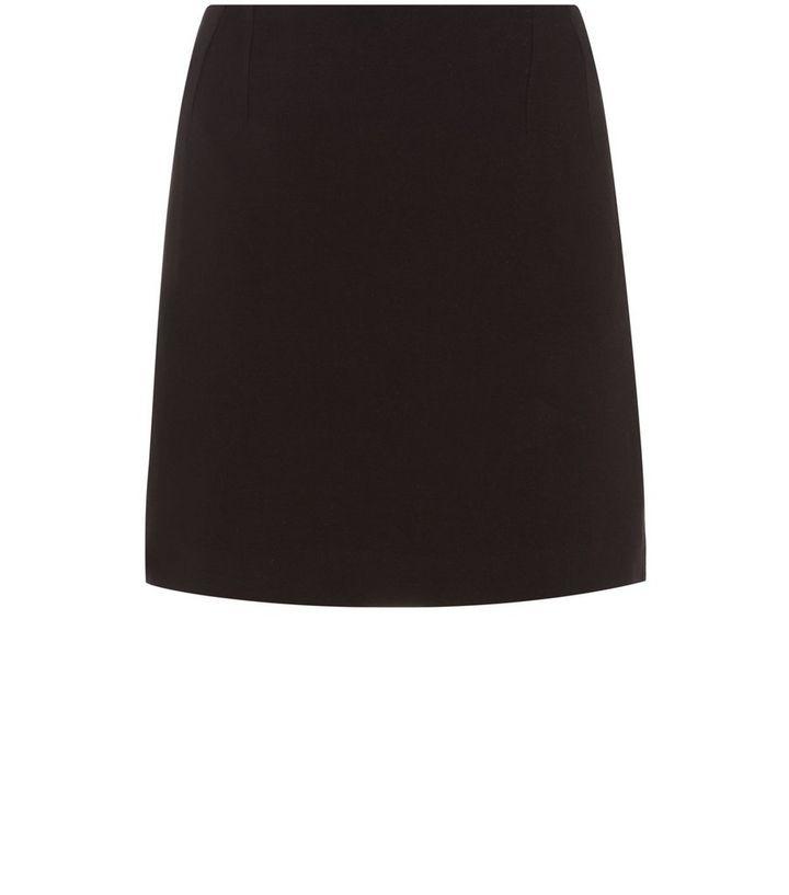 d28e523789 Black Zip Back Tailored Mini Skirt | New Look