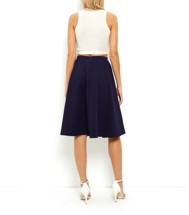 ddcf41b399b ... Navy Jersey Pleated Midi Skirt. ×. ×. ×. Shop the look