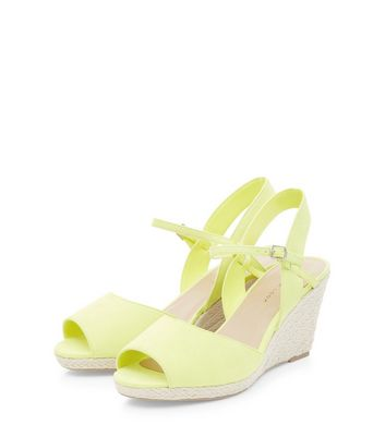 Wide Fit Lime Green Ankle Strap Straw