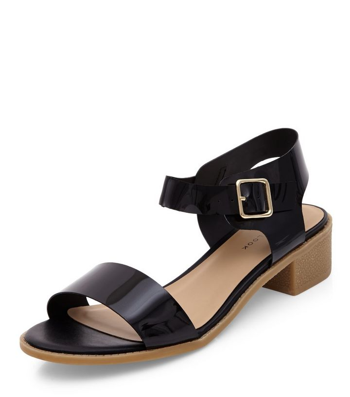 84070fbce6d Black Patent Block Heel Sandals Add to Saved Items Remove from Saved Items