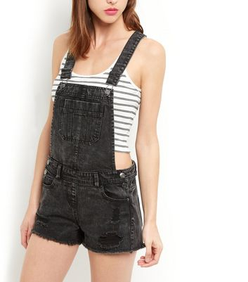 New Look Womens Acid Dungarees