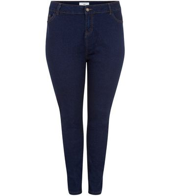 Curves Navy Skinny Jeans New Look