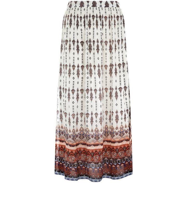 93c5bde3e348 Petite Black Tile Print Split Side Maxi Skirt | New Look