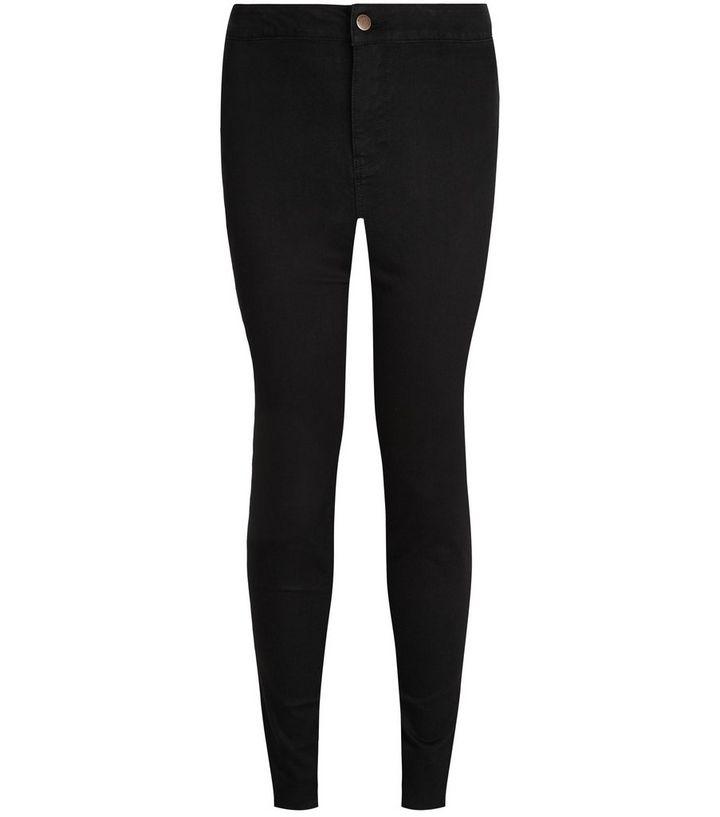 8df5fcef382 Plus Size Black High Waist Super Skinny Jeans
