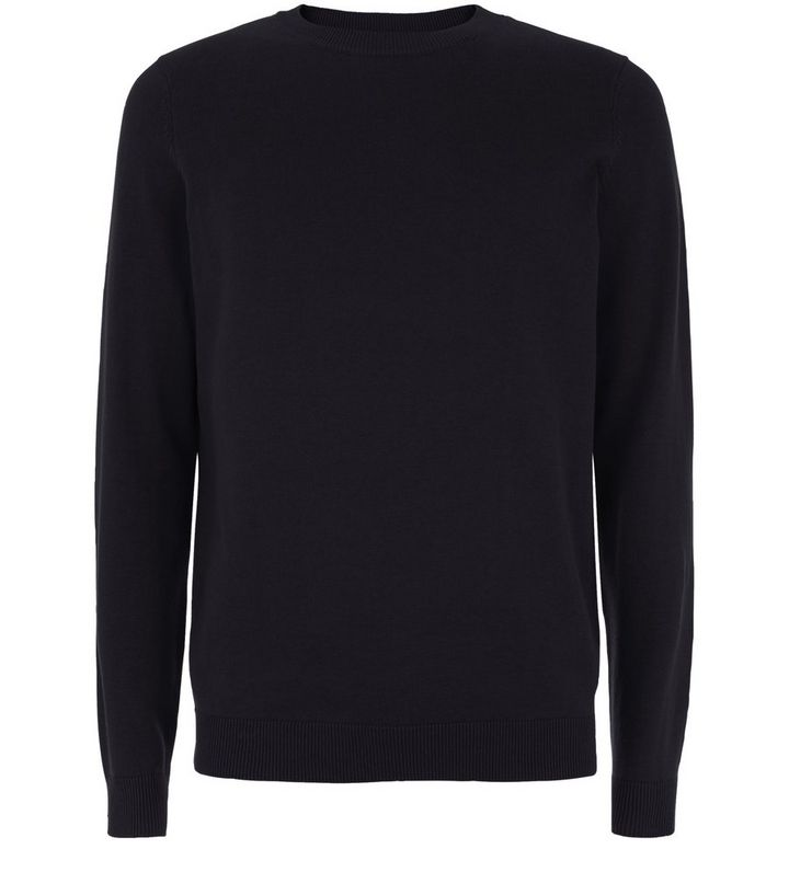 6e15154ae0a3ba ... Black Cotton Basic Crew Neck Jumper. ×. ×. ×. Shop the look