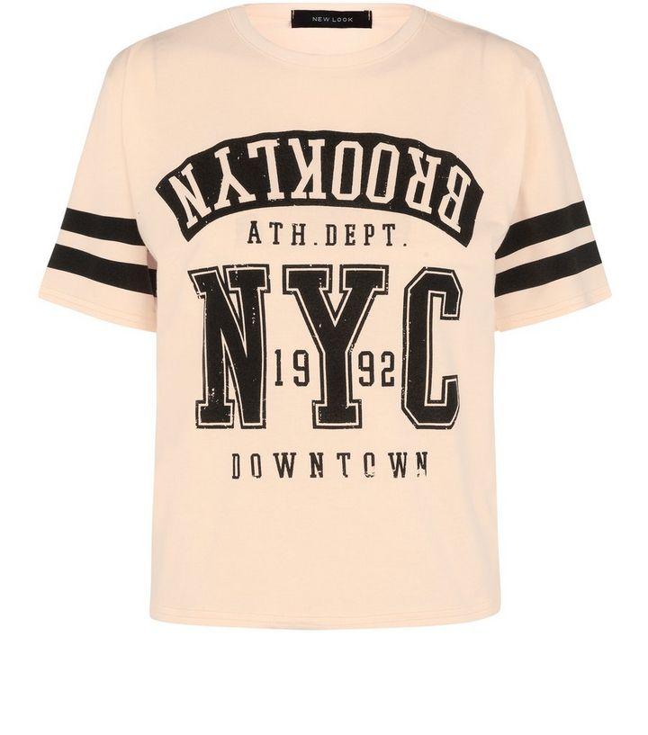 6ba0a0cb Orange Brooklyn Baseball T-Shirt | New Look