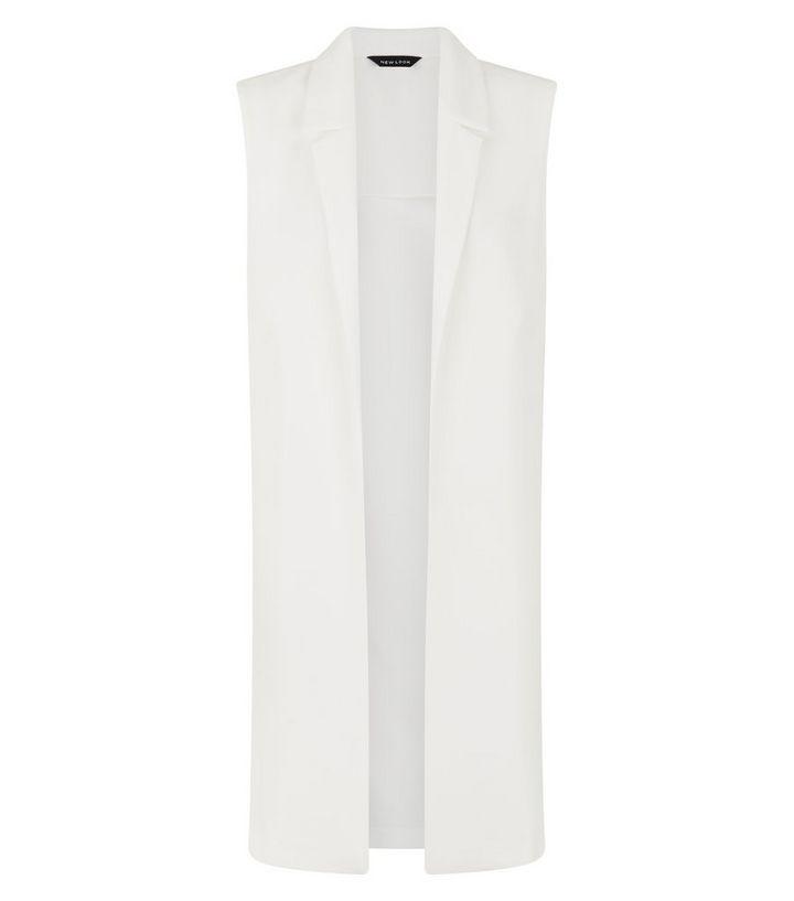 a210e00ed Cream Longline Sleeveless Duster Coat