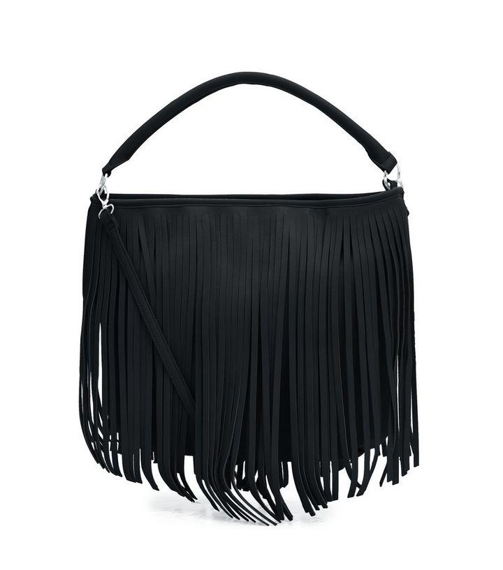 Black Fringed Bag  40a3fbb50b661