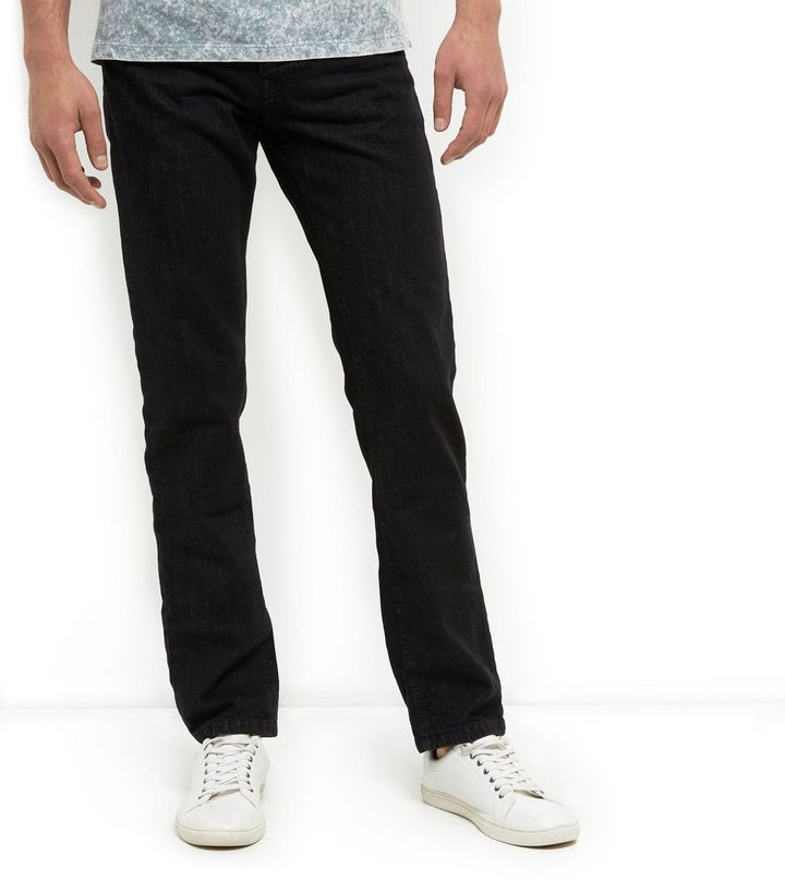 d6e706808df Black Straight Leg Jeans