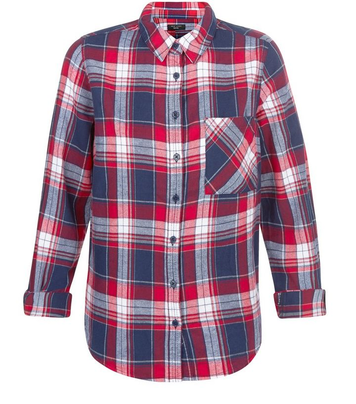 6aa24c53512a38 Petite Red Check Shirt | New Look